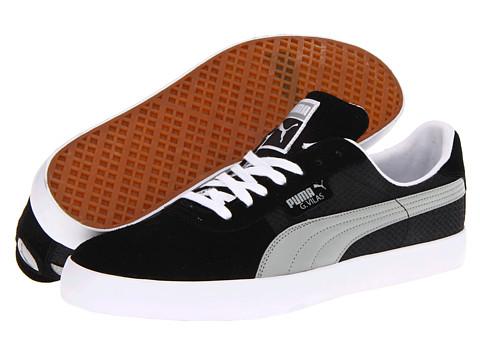 Adidasi PUMA - GV Vulc Lo Canvas - Black/White/Limestone Gray