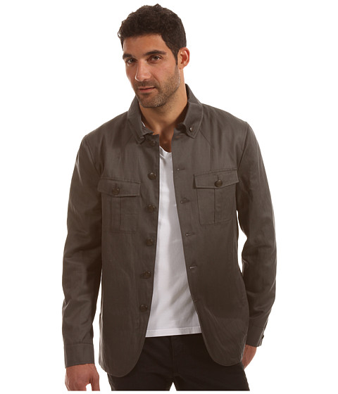 Jachete John Varvatos - Military Shirt Jacket - Seal Grey