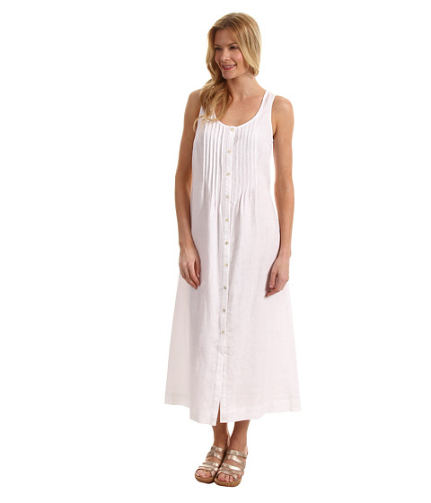 Rochii Jones New York - Pintuck Button Front Tank Dress - White