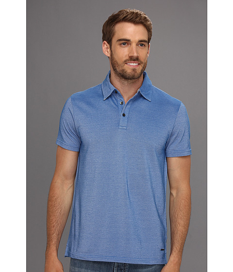 Tricouri DKNY - S/S 2-Tone Pique Polo - Pop Blue
