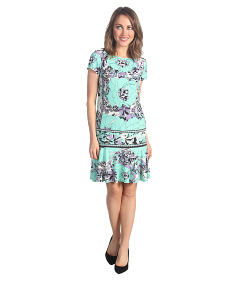 Rochii elegante: Rochie Donna Morgan - Kyra Drop Torso Jersey Dress - Spearmint Multi