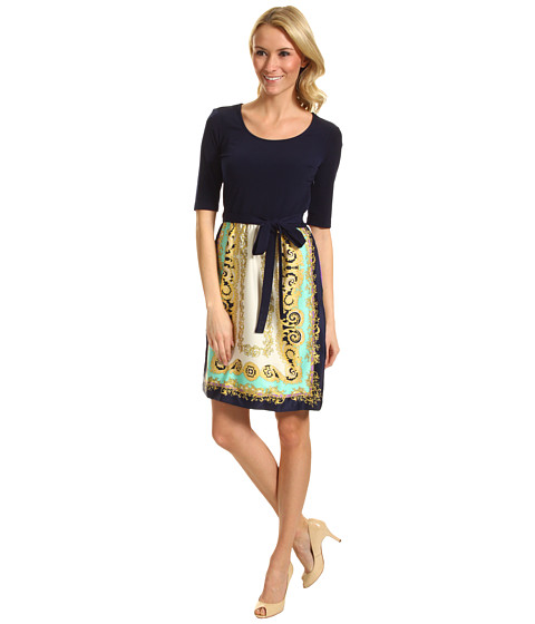 Rochii elegante: Rochie Donna Morgan - Nicky Scarf Combo Print Dress - Navy Multi