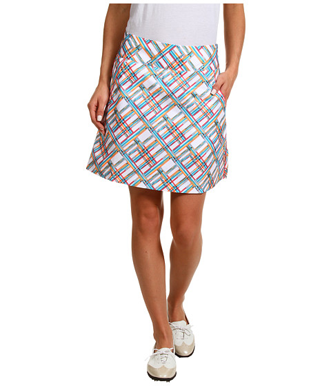 Pantaloni adidas - Fashion Performance Digital Plaid Skort \13 - White/FP Aqua/FP Electric/FP Highlighter