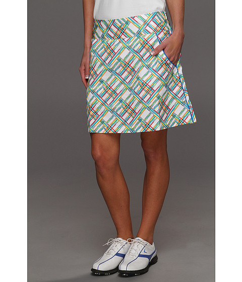 Pantaloni adidas - Fashion Performance Digital Plaid Skort \13 - White/FP Aqua/FP Galaxy/FP Candy