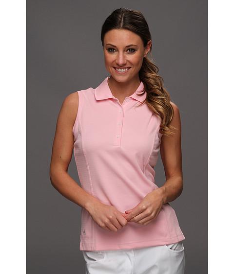 Bluze adidas - ClimaLiteî Sleeveless Solid Polo \13 - Blush/White
