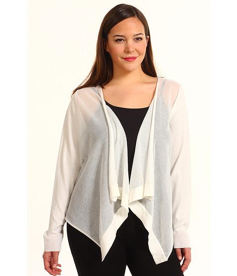 Bluze DKNY - Plus Size L/S Cozy w/ Sheer Rayon Sweater - Ivory