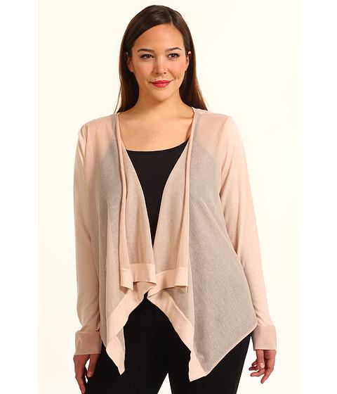 Bluze DKNY - Plus Size L/S Cozy w/ Sheer Rayon Sweater - Powder