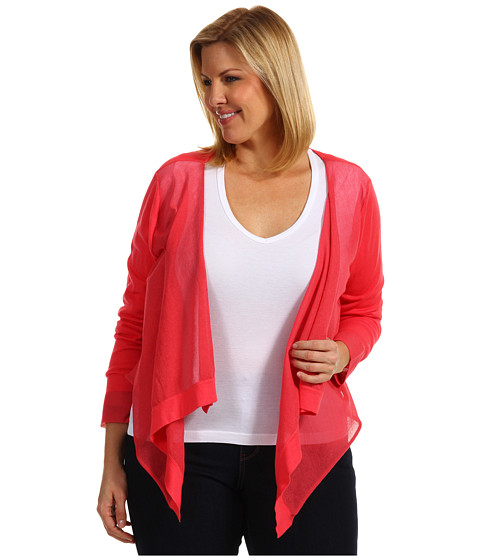 Bluze DKNY - Plus Size L/S Cozy w/ Sheer Rayon Sweater - Bright Bloom