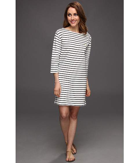Rochii elegante: Rochie Fred Perry - 3/4 Sleeve Breton Stripe Dress - Snow White