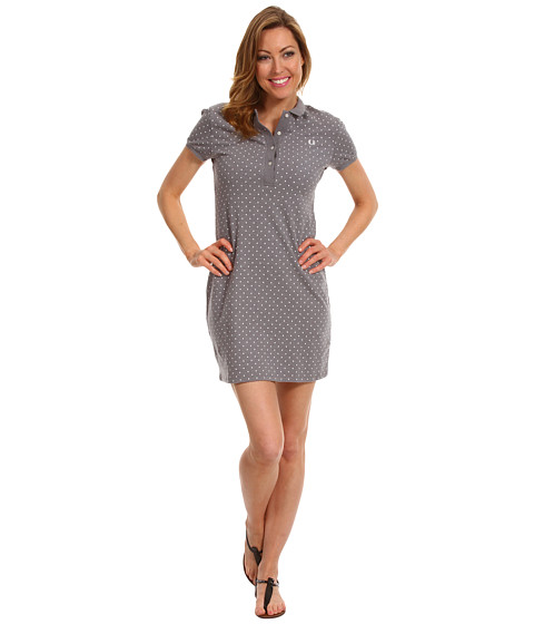 Rochii elegante: Rochie Fred Perry - Polka Dot Pique Dress - Pavement Marl