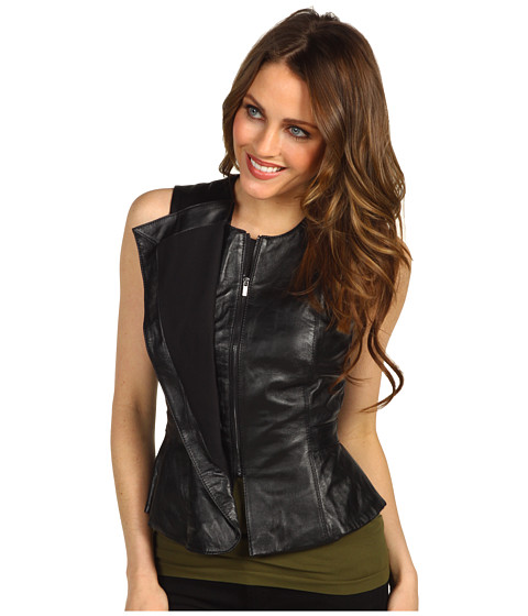 Jachete BCBGMAXAZRIA - Liu Leather Vest - Black
