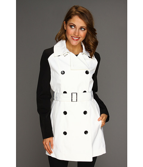 Jachete Calvin Klein - Block Sleeve Trench Coat - Ivory