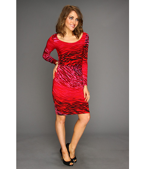 Rochii elegante: Rochie Anne Klein New York - Ombre Zebra Print Dress - Rose Multi