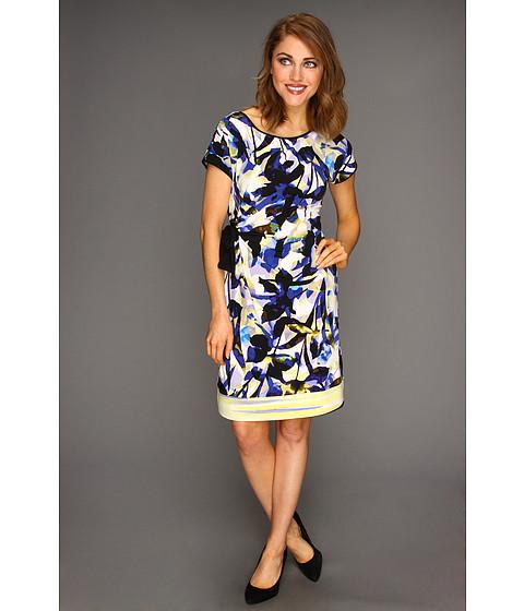 Rochii Calvin Klein - Side Tie Dress - Ultramarine/Black Multi