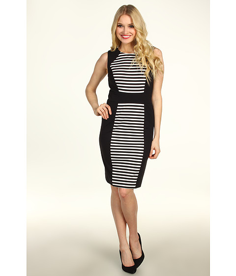 Rochii elegante: Rochie Calvin Klein - Striped Dress - Black/Ivory 2