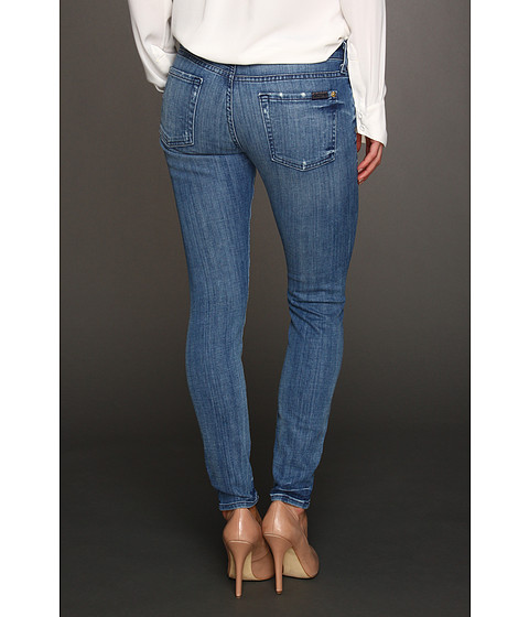 """Blugi 7 For All Mankind - The Skinny 28\"""" Inseam in Natural Water Blue - Natural Water Blue"""