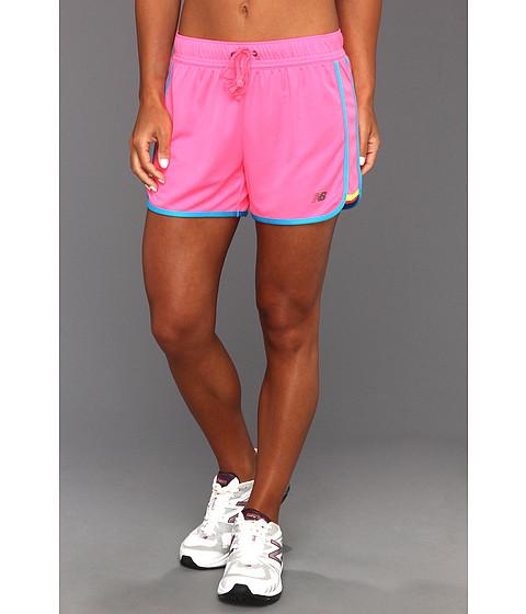 Pantaloni New Balance - Neon Pulse Short - Pink Shock