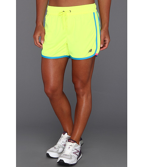 Pantaloni New Balance - Neon Pulse Short - Yellow