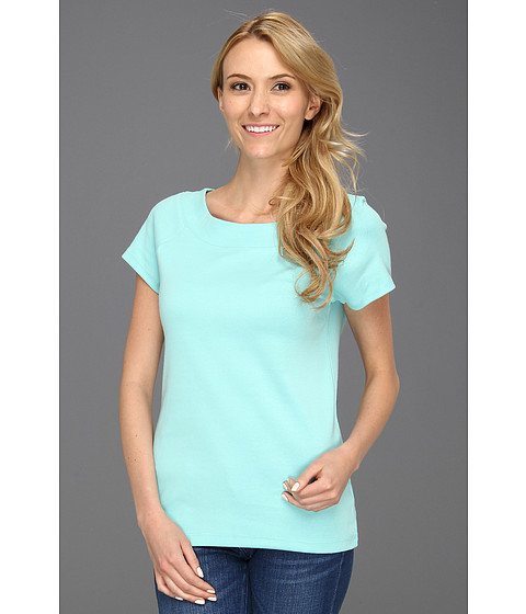 Tricouri Jones New York - Cap Sleeve Ballet Neck - Spring Turquoise