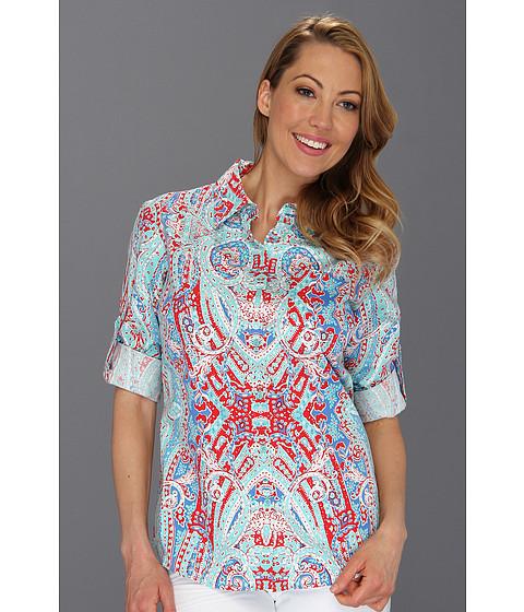 Tricouri Jones New York - Roll Sleeve One Pocket Slim Shirt - Spring Turquoise