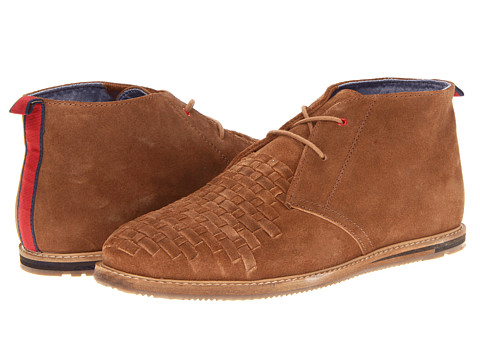 Ghete Ben Sherman - Aberdeen Woven Suede - Dark Brown