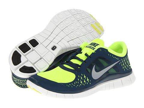 Adidasi Nike - Free Run+ 3 - Volt/Squadron Blue/Summit White/Reflective Silver