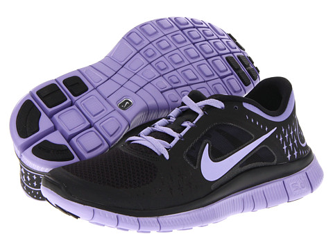 Adidasi Nike - Free Run+ 3 - Black/Medium Violet