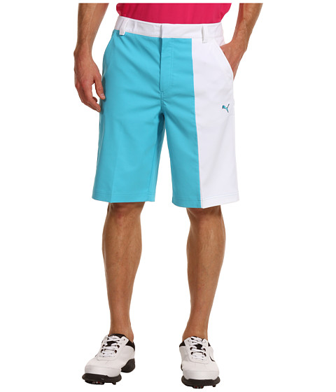 Pantaloni PUMA - New Wave Colorblock Short \13 - Blue Atoll/White