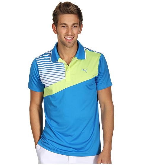 Tricouri PUMA - Colorblock Stripe Tech Polo \13 - Directoire Blue