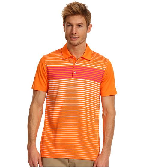 Tricouri PUMA - Engineered Stripe Tech Sleeve Logo Polo \13 - Vibrant Orange