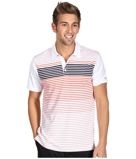 Tricouri PUMA - Engineered Stripe Tech Sleeve Logo Polo \13 - White/Cherry Tomato