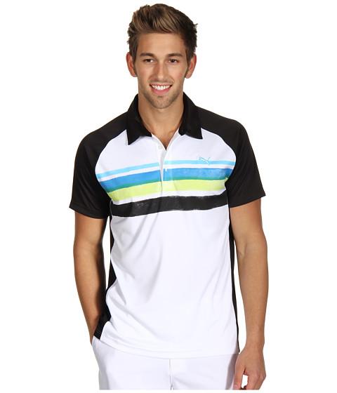 Tricouri PUMA - Golf Watercolor Stripe Polo \13 - Black