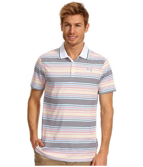 Tricouri PUMA - Jacquard Stripe Polo \13 - White