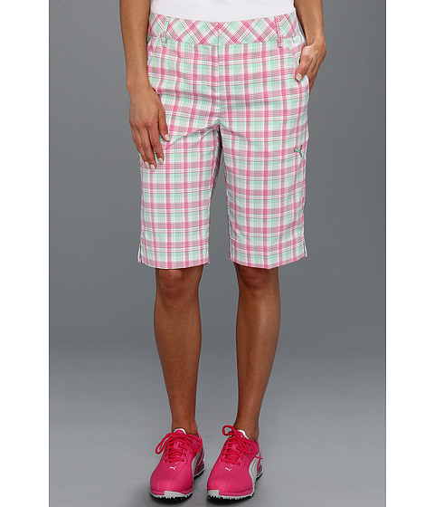 Pantaloni PUMA - Golf Plaid Tech Short \13 - White/Irish Green/Caberet