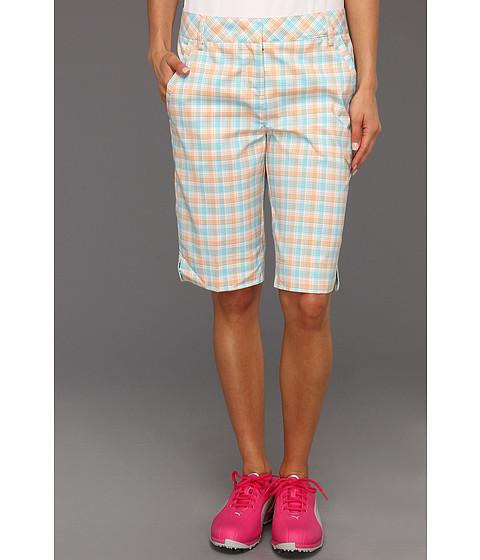 Pantaloni PUMA - Golf Plaid Tech Short \13 - White/Capri/Orange Popsicle