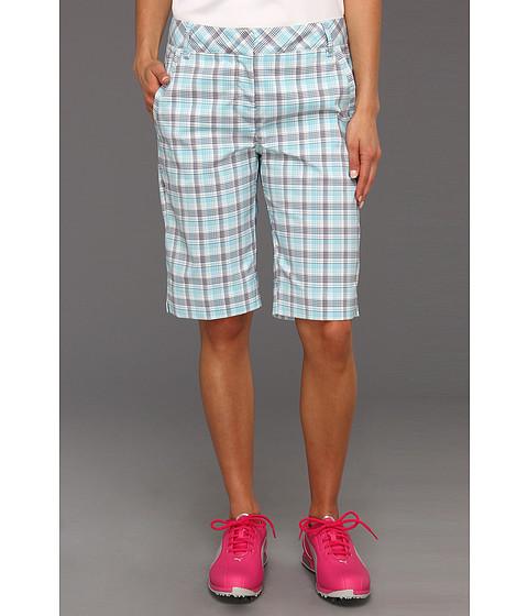Pantaloni PUMA - Golf Plaid Tech Short \13 - White/Capri/Patriot Blue