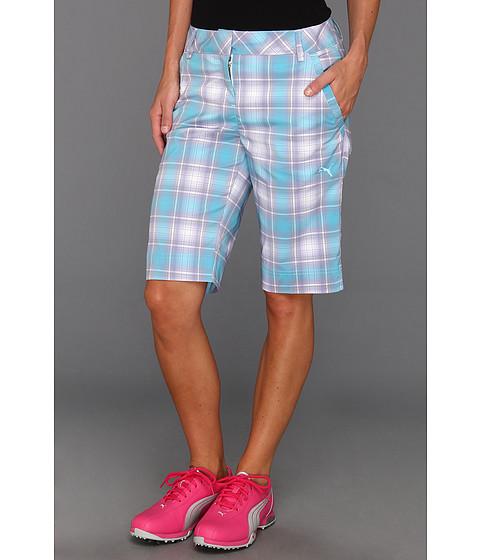 Pantaloni PUMA - Golf Plaid Tech Short \13 - White