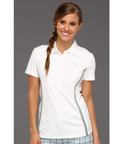 Tricouri PUMA - Golf Ombre Trim Polo Shirt \13 - White