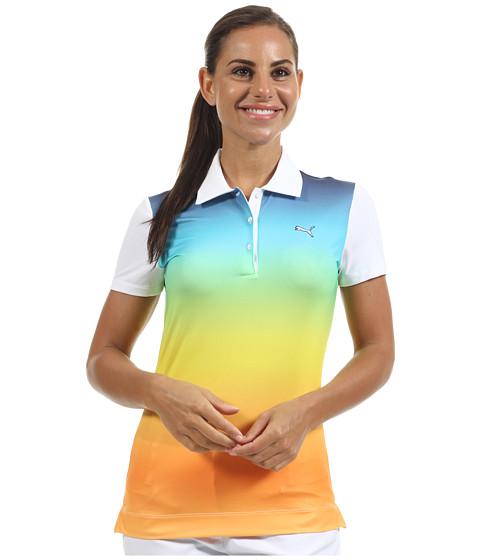 Tricouri PUMA - Ombre Print Polo Shirt \13 - White