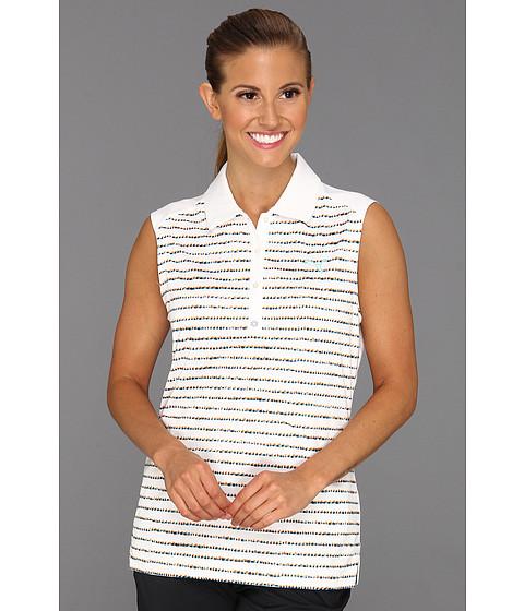 Tricouri PUMA - Sleeveless Dotted Stripe Polo Shirt \13 - White