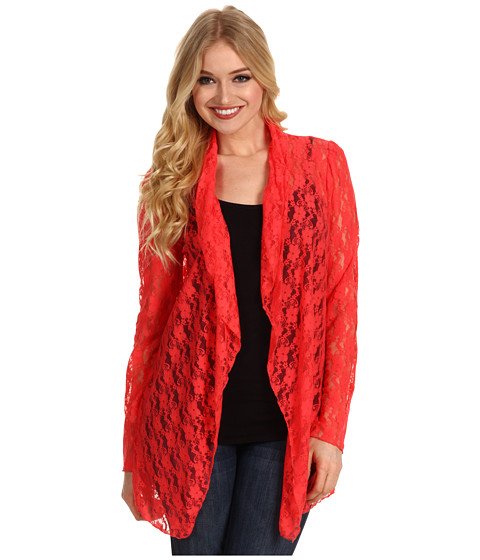 Bluze Christin Michaels - Varah Lace Cardigan - Coral