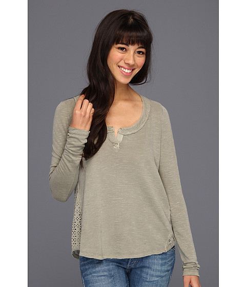 Bluze Free People - Patches Of Lace Henley - Olive