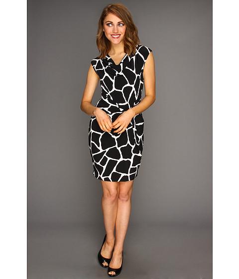 Rochii Michael Kors - Petite Mod Giraffe Twist Knot Dress - Black
