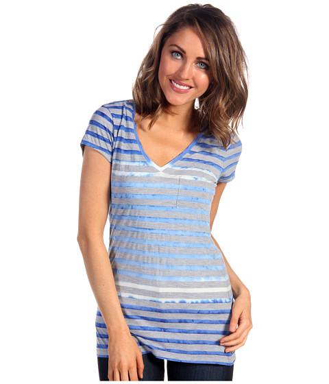 Tricouri Calvin Klein - Tie Dye S/S Stripe Tee - Ultra Blue