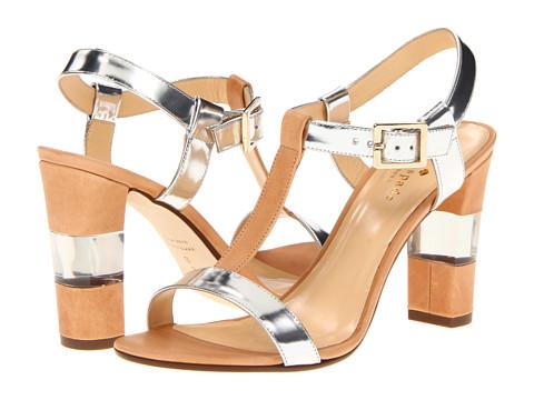 Pantofi Kate Spade New York - Illaria - Natural Vacchetta/ Silver Specchio