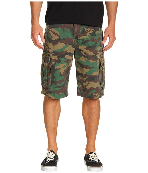 Pantaloni Hurley - One & Only Cargo Walk Short - Camo Green