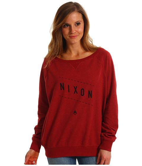 Bluze Nixon - Series Pullover Crew - Dark Red Heather