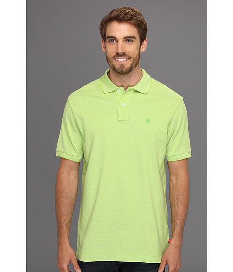 Tricouri IZOD - Short Sleeve Oxford Pique Polo Shirt - Lime Green