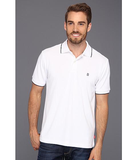 Tricouri IZOD - Short Sleeve Poly Pique Polo Shirt - Bright White