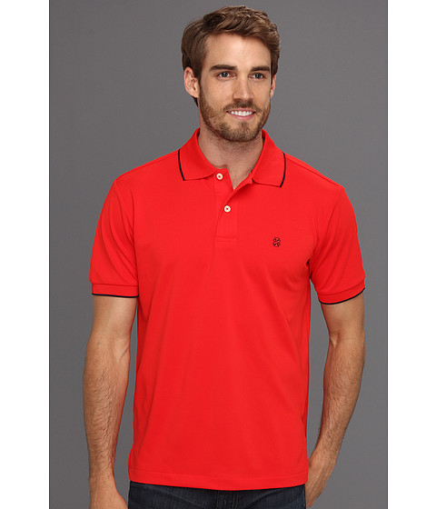 Tricouri IZOD - Short Sleeve Poly Pique Polo Shirt - High Risk Red
